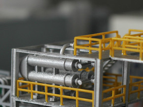 N Scale Heat Exchanger #3 Double in Smooth Fine Detail Plastic