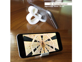 Ampersand iPhone Stand in White Processed Versatile Plastic