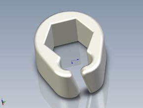 Pinball Hexagonal Post Cable Restraint (V4) in White Processed Versatile Plastic