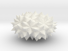 Conway Polyhedron {lmbA4} in White Natural Versatile Plastic