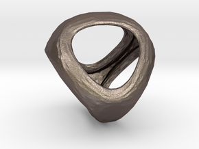 Conway Polyhedron {lseehT} in Polished Bronzed Silver Steel