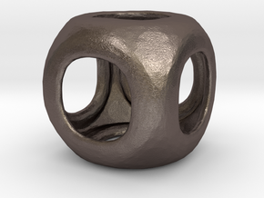 Conway Polyhedron {lseehC} in Polished Bronzed Silver Steel