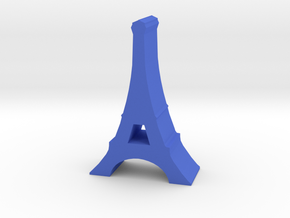 Game Piece, France Eiffel Tower in Blue Processed Versatile Plastic