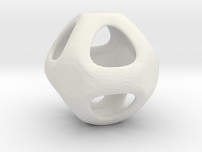 Conway Polyhedron {lseehO} in White Strong & Flexible