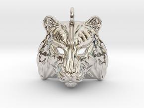 Tiger Pendant in Platinum
