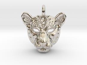 Leopard Small Pendan in Platinum