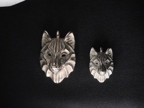 Timber Wolf Small Pendant in Stainless Steel