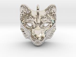 Snow Leopard Pendant in Platinum