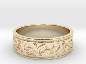 KORU V1 Ring Size 14 in 14k Gold Plated Brass