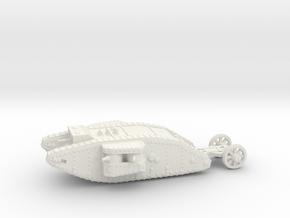 1/100 Mk.I Female tank in White Strong & Flexible