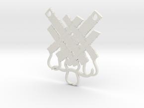 Tatty Shreds Festoon in White Natural Versatile Plastic