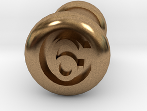 6 Gauge Ear Tunnel Engraved in Natural Brass