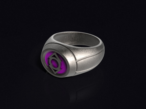 Indigo Lantern Ring in Stainless Steel