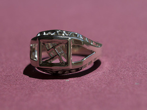 Tesseract Ring in 14k White Gold: 6.5 / 52.75