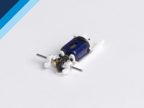 Small Can motor mount - Slot.it compatible in White Strong & Flexible