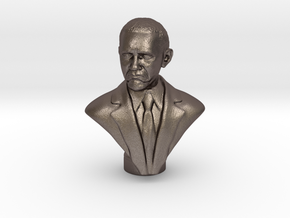 Obama Not Bad meme metal in Polished Bronzed Silver Steel