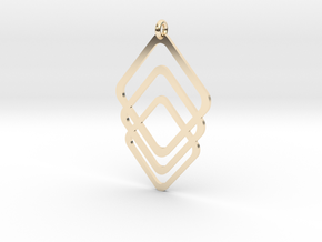 Rombs Pendant in 14k Gold Plated Brass