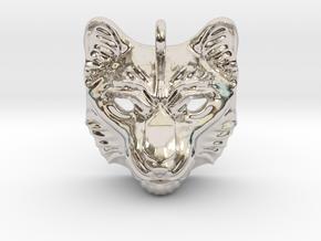Snow Leopard Small Pendant in Platinum