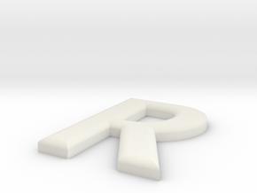 R in White Natural Versatile Plastic