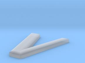 V in Smooth Fine Detail Plastic