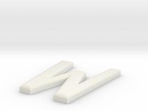 W in White Natural Versatile Plastic