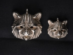 Raccoon (angry) Small Pendant in Stainless Steel