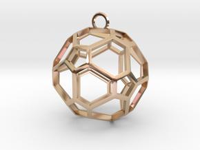 Pentagon Jewel in 14k Rose Gold Plated Brass