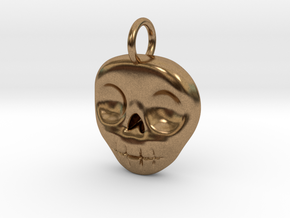 Skull Necklace/Earring pendant in Natural Brass