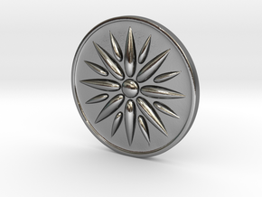 Sun Of Vergina Amulet in Polished Silver