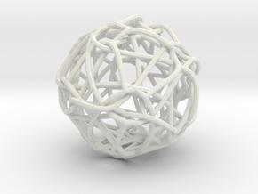 Spaghetti Monster Pendant in White Natural Versatile Plastic