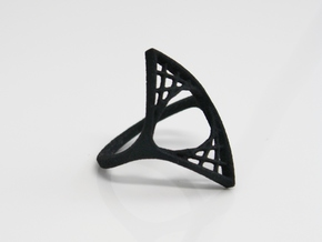 Parabolic Suspension Ring - US Size 09 in Black Natural Versatile Plastic