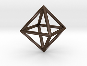 Octahedron LG in Polished Bronze Steel