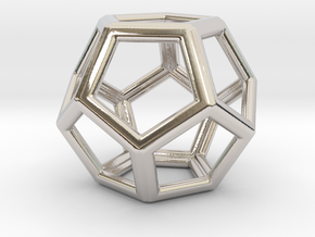 Dodecahedron LG in Rhodium Plated Brass