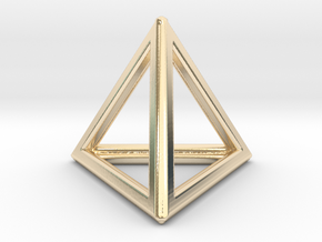Tetrahedron LG in 14k Gold Plated Brass