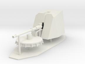 1:72 76mm OTOBREDA in White Natural Versatile Plastic