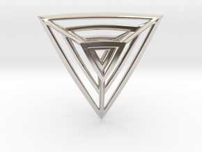 Triangulation Pendant in Rhodium Plated Brass