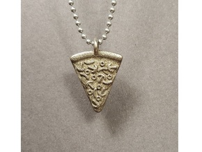Pizza Pendant in Stainless Steel