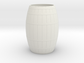 18th Century Barrel-Open (21hx15dia) 1/35 in White Natural Versatile Plastic