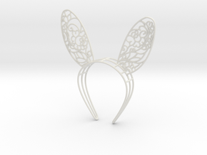 Gzhel Bunny Ears  in White Natural Versatile Plastic