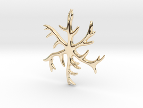 Antler Pendant 2 inches in 14k Gold Plated Brass