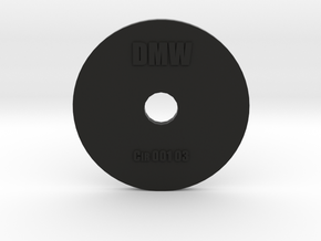 Clay Extruder Die: Circle 001 03 in Black Natural Versatile Plastic