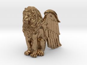 Winged Lion 25mm in Natural Brass