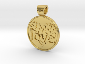 Love is Forever, pendant in Polished Brass