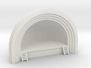 Concert Band Shell - N 160:1 Scale in White Natural Versatile Plastic