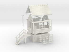 CO71 - Consall Signal box in White Natural Versatile Plastic