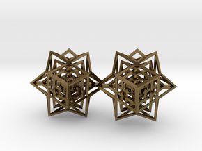 Hedra Cube in Polished Bronze