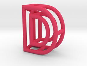 D in Pink Processed Versatile Plastic