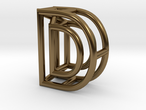 D in Polished Bronze
