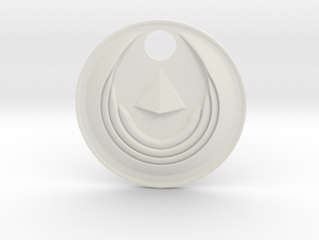 Winged Medallion 1 in White Natural Versatile Plastic