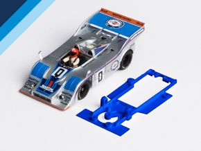 1/32 Fly Porsche 917/10 Chassis for Slot.it pod in Blue Strong & Flexible Polished
